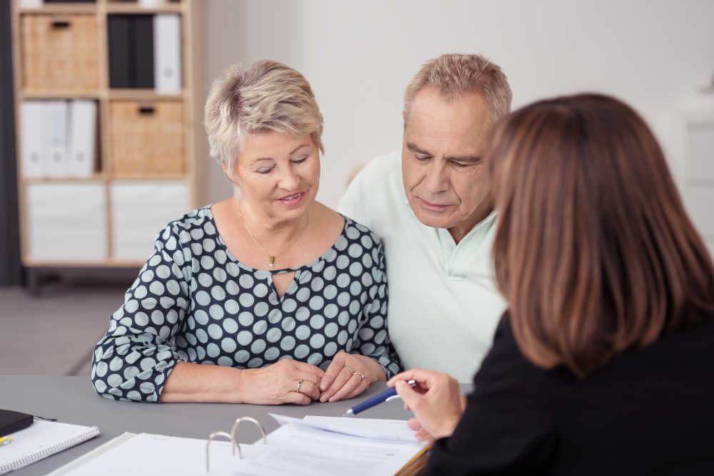 couple getting pension advice