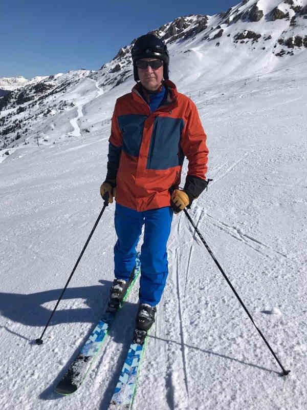 Ian Palmer skiing